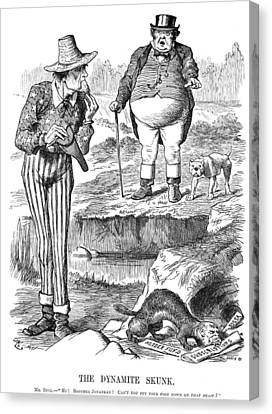 Terrorism Cartoon, 1884 Canvas Print by Granger
