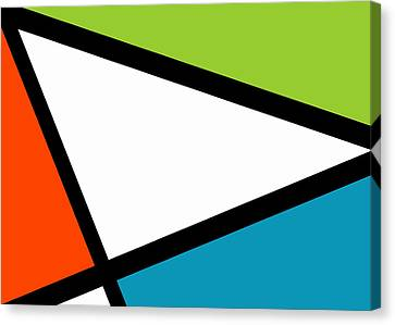 Meeting. Point Canvas Print - Tertiary Triangularism I by Richard Reeve