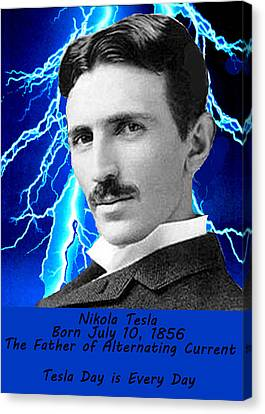 Visual Creations Canvas Print - Tesla Day Is Every Day by Bruce Iorio