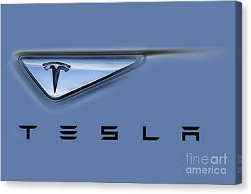 Tesla Model S Canvas Print by David Millenheft
