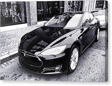 Canvas Print featuring the photograph Tesla Model S by Olivier Le Queinec