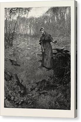 Plantation Canvas Print - Tess Of The Durbervilles The Plantation Wherein by English School