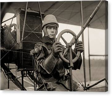 Test Canvas Print - Test Of A Curtiss Plane Circa 1912 by Aged Pixel