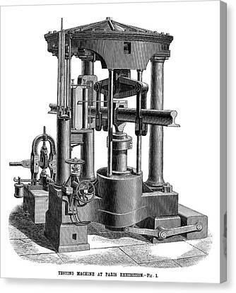 Testing Machine, 1878 Canvas Print by Granger