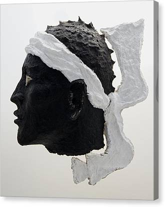 Tete De Maure - Papier Mache Canvas Print by Christian V Stanescu