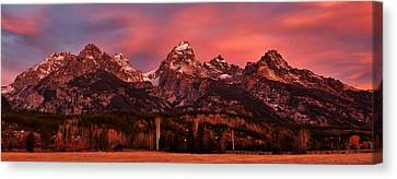 Canvas Print featuring the photograph Teton Color by Benjamin Yeager