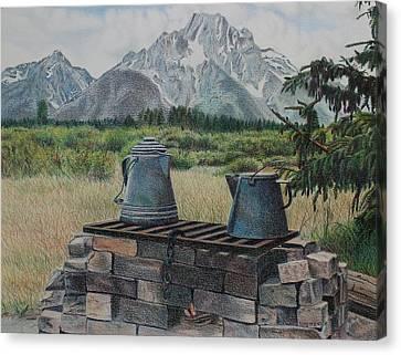Teton Cook Site Canvas Print by Scott Kingery