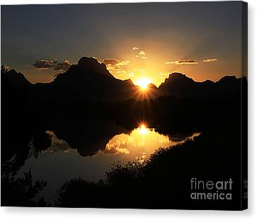 Canvas Print featuring the photograph Teton Double Star by Clare VanderVeen