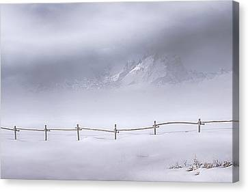 Teton Morning Canvas Print by Priscilla Burgers