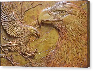 Teton Pair Canvas Print by Jeremiah Welsh