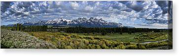 Teton Panorama Canvas Print