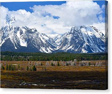Teton Panorama I Right Panel Canvas Print by Greg Norrell