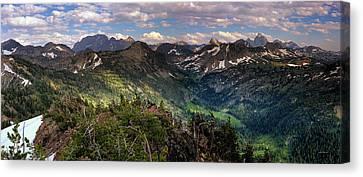 Teton Panoramic Canvas Print