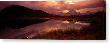 Teton Range, Mountains, Grand Teton Canvas Print by Panoramic Images