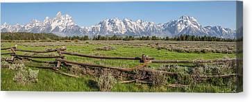 Teton Range Panorama Canvas Print by Aaron Spong