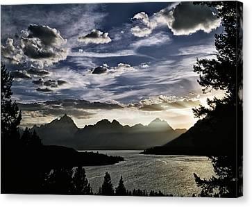 Teton Range Sunset Canvas Print by Leland D Howard