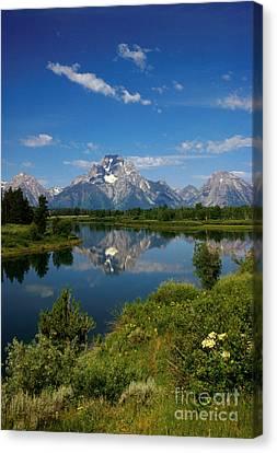 Teton Reflection Canvas Print