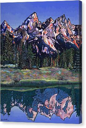 Canvas Print featuring the painting Teton Summer by Bob Coonts