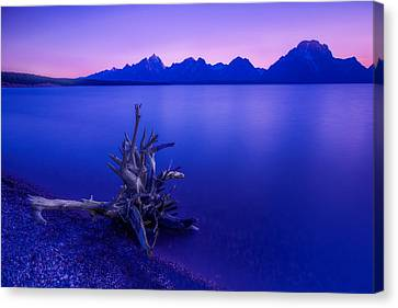 Teton Summer Sunset Canvas Print by Jerry Patterson