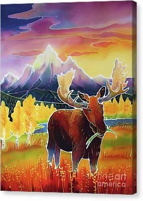Teton Sunrise Canvas Print by Harriet Peck Taylor
