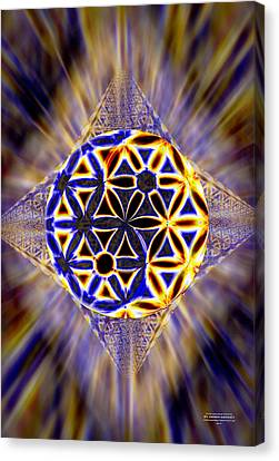 Canvas Print featuring the drawing Tetra Balance Crystal by Derek Gedney