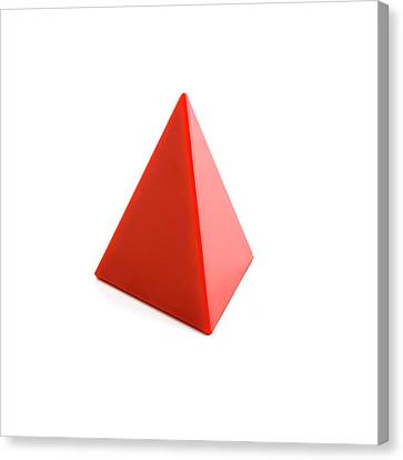 Platonic Canvas Print - Tetrahedron by Science Photo Library