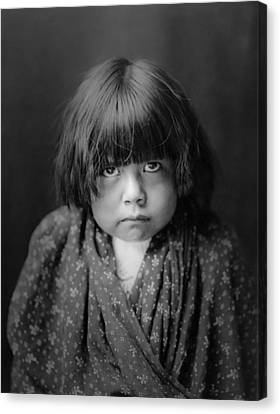 Indigenous Canvas Print - Tewa Indian Child Circa 1905 by Aged Pixel