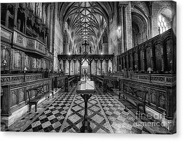 Tewkesbury Abbey Bw Canvas Print by Jack Torcello