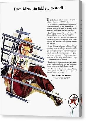 Texaco Advertisement, 1943 Canvas Print by Granger