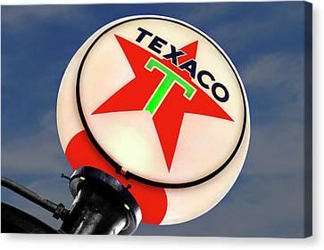 Texaco Star Globe Canvas Print by Mike McGlothlen