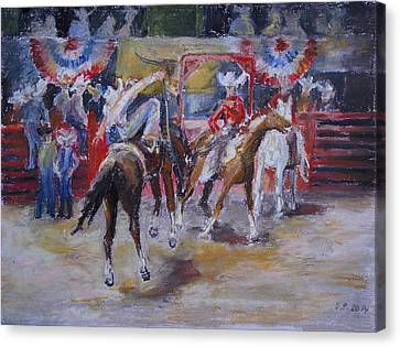 Texan Rodeo Canvas Print by Barbara Pommerenke