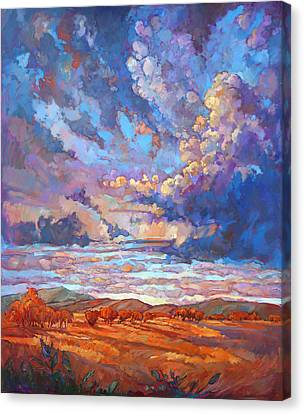 Texan Sky Canvas Print by Erin Hanson