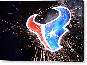 Texans Canvas Print by Andrew Nourse