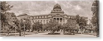 Sullivan Canvas Print - Texas A And M Academic Plaza - College Station Texas by Silvio Ligutti