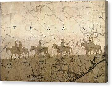 Texas And The Army Canvas Print