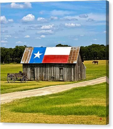 Texas Barn Flag Canvas Print by Gary Grayson
