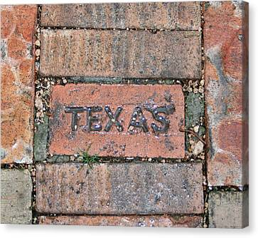 Texas Brick Walkway Canvas Print by Kathy Peltomaa Lewis