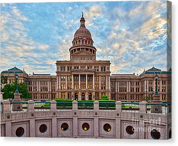 Texas Capital Canvas Print by Tod and Cynthia Grubbs