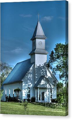 Texas Country Church Canvas Print by D Wallace
