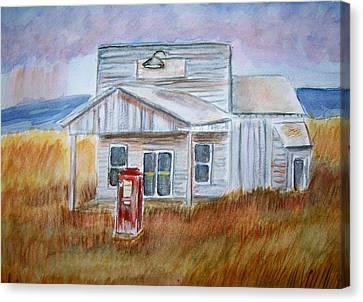 Texas Grassland Canvas Print by Belinda Lawson