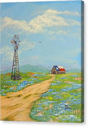 Canvas Print featuring the painting Texas High Sky by Jimmie Bartlett