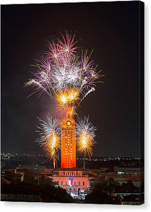 Texas Images - The University Of Texas Graduation 2014 3 Canvas Print