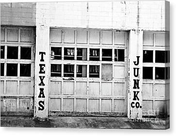 Canon 7d Canvas Print - Texas Junk Co. by Scott Pellegrin