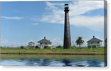 Canvas Print featuring the photograph Texas Lighthouse by Cecil Fuselier