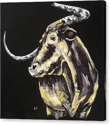 Texas Longhorn Canvas Print by Konni Jensen