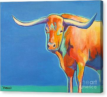 Pop Art Canvas Print - Texas Longhorn by Venus