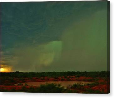 Canvas Print featuring the photograph Texas Microburst by Ed Sweeney
