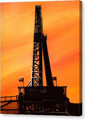 Texas Oil Rig Canvas Print