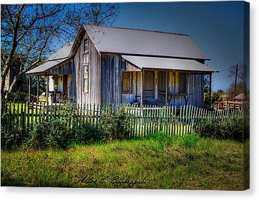 Texas Old Homestead Canvas Print by Allen Biedrzycki