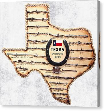 Dallas Western Canvas Print - Texas Old-west Barbed Wire by Daniel Hagerman